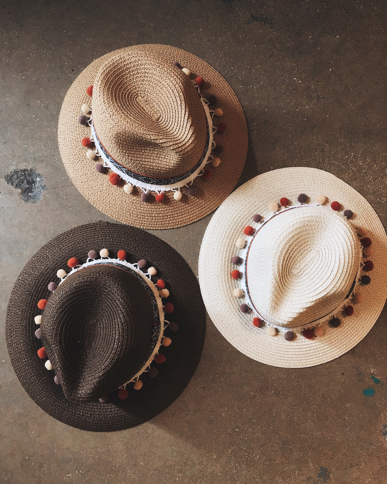 Pom Pom Panama Hat Ashley Sixto
