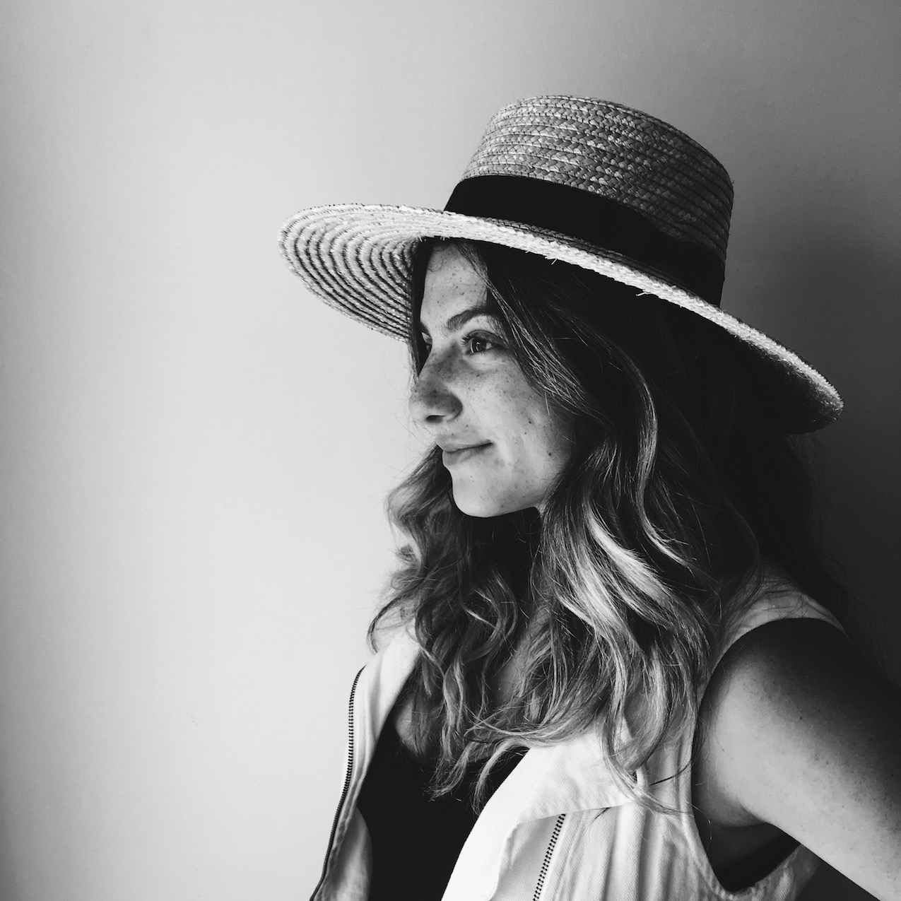 Ashley Sixto Straw Boater Hat